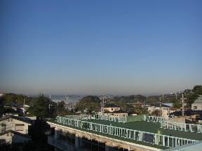 学校屋上から見た北浦方面の様子\\