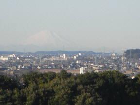 朝日に輝く富士山(8:00)