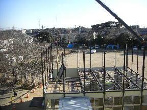 解体工事進行中(14:45)5年高安龍樹さん撮影
