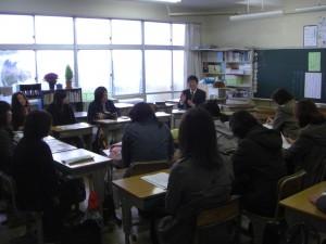 6年生の学級懇談会(10:50)