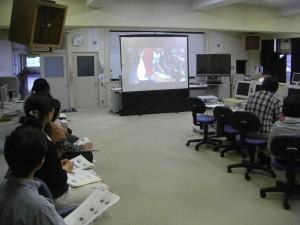 指導のポイントについて,授業風景の動画を視聴しながらご指導いただきました(16:25)