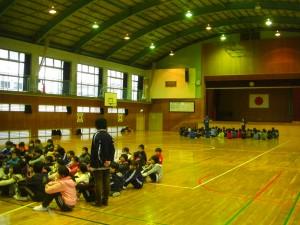 登校班会議のひとこま(14:00)