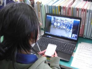 本校児童会長による学校紹介(13:10)