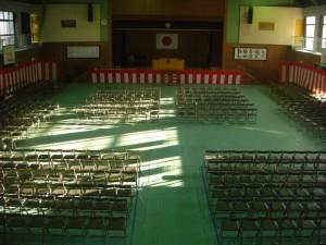 卒業式会場が,完成しました。(16:10)
