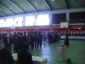 卒業生入場(9:00)