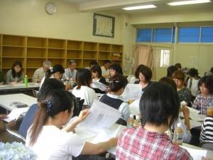 学校保健委員会 会議のひとこま(13:40)