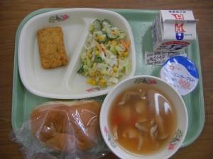 今日の給食です。\\
