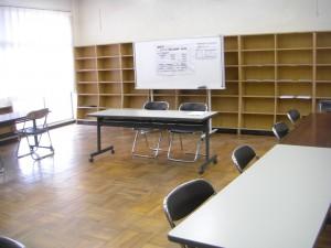 学びの広場会場 まもなく子どもたちが登校してきます。(7:30)