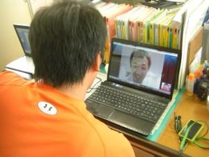 Skypeでの交流風景 その1(14:50)
