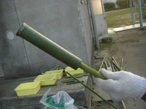 1セット分 水鉄砲の準備ができました(17:35)
