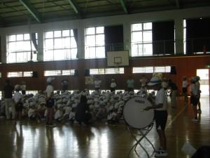 緑団の応援練習(9:45)