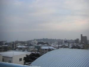 校舎屋上から,鹿島神宮方面の風景(7:15)