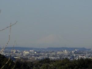 本校屋上からの富士山(8:00)