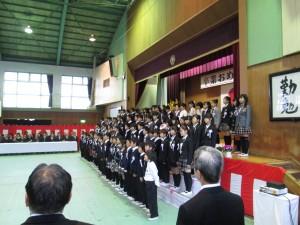 卒業生による合唱(10:35)