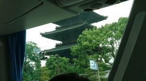 バスから見た東寺