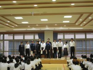 生徒会役員が任命されました。\