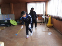 大掃除 テニス部②