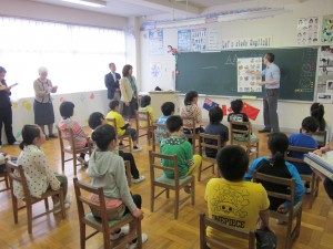 4年生の授業の様子。\