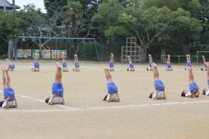 組み体操も練習の成果がでてきました