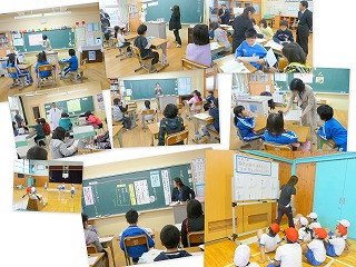 各教室での授業風景