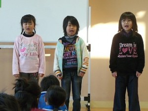 英語の歌を歌いました。\