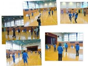 5年生とソフトバレーボール大会\