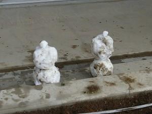 低学年が作ったかわいい雪だるま