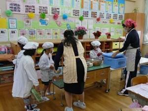 1・2年生教室での準備