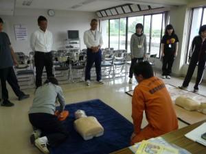 昨日の職員研修 鹿嶋消防署においてAED使用に関する研修会を行ってきました。\