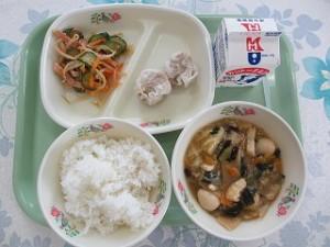 中華丼とシュウマイ
