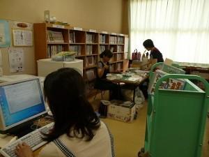 図書の整備と電子化の準備