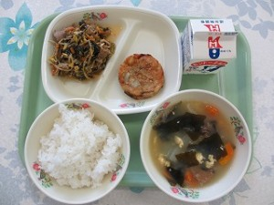 ビビンバどんと韓国風スープ\