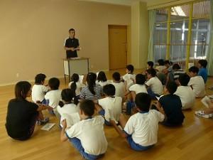 宿泊学習の事前指導(4・5・6年生)\