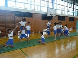 組体操の練習\