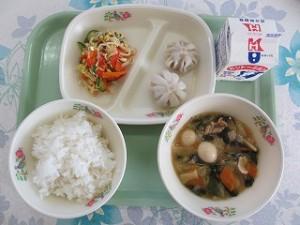 中華丼とナムル