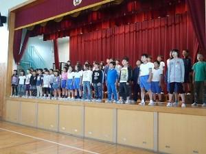昨日の全校合唱練習\