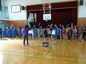 最後の全校合唱練習会\