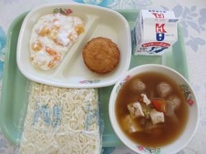ソフト麺とれんこんのよせ揚げ、鴨汁\