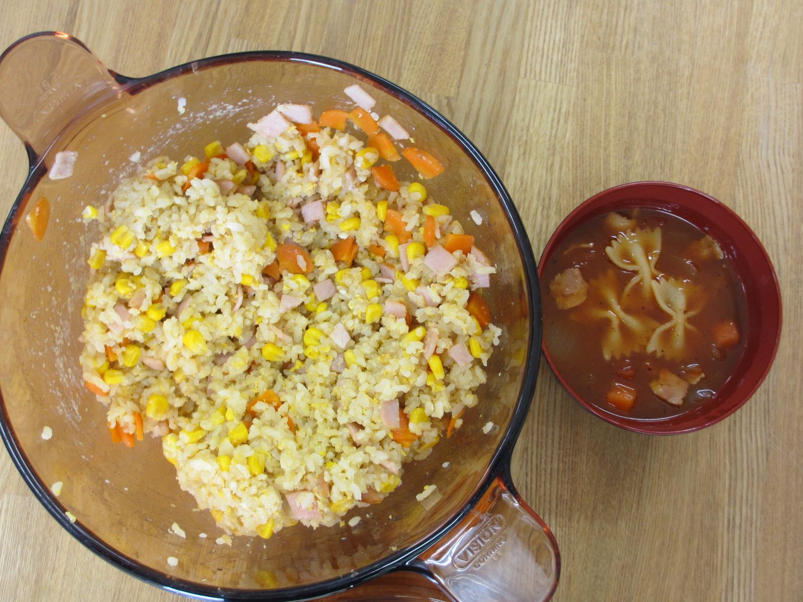5年生が調理しました。プロ並みの味付けです。④