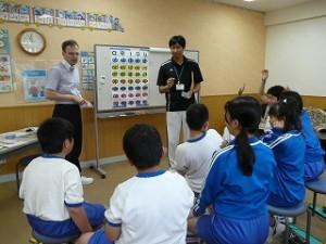 英語学習の様子\