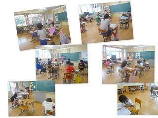 各教室での学習の様子\
