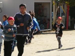 体力づくり 業間マラソンの時間です。\