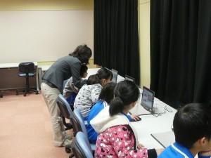 パソコン学習の様子\