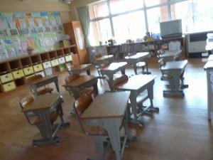 ひっそりとした教室