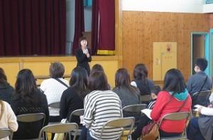 鹿嶋市教育委員会教育委員の矢幡久美子さんよりご挨拶をいただきました。\