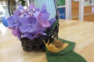 古賀さんがこの季節にぴったりの手作り置物を飾ってくださいました。\