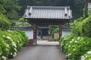 根本寺の前も通りました。\