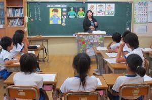 井坂先生は「朝ご飯はどうして大切なの?」という授業を楽しくして下さいました。子ども達も集中して学習していました。\