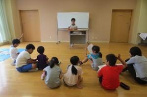 登校班会議で1学期の反省をしました。\