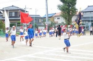 運動会全校練習の初日です。さすが⒍年生かっこいいです!\